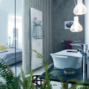 Vonios kambarį pakeitę dizaineriai